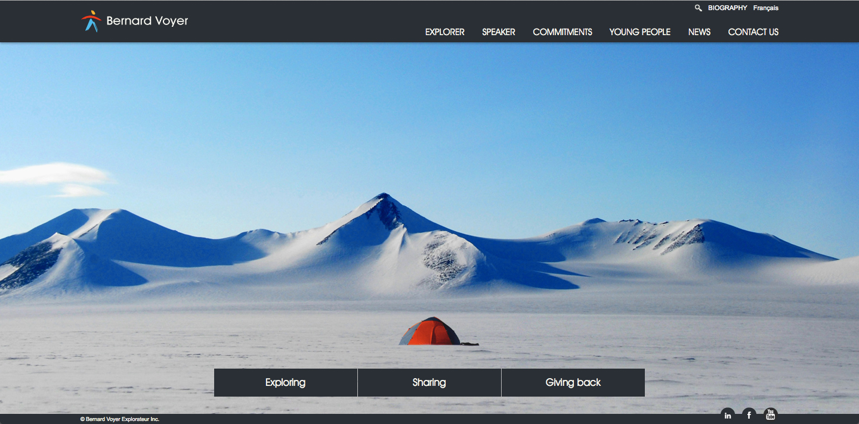 Bernard Voyer - homepage